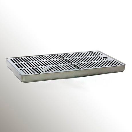 Каплесборник (нерж. сталь) 800*220*30 h mm