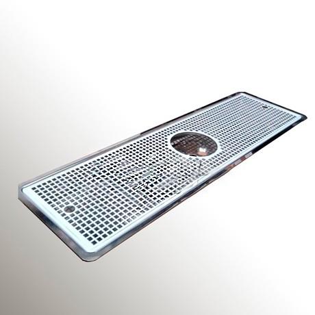 Каплесборник (нерж. сталь) 600*220*30 h mm под омыватель