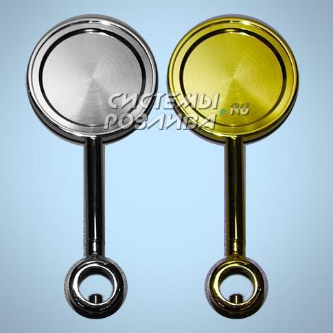 Медальон D=80мм на длинной ножке ( хром )