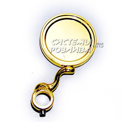 Медальон D=80мм наS-образной ножке, PVD