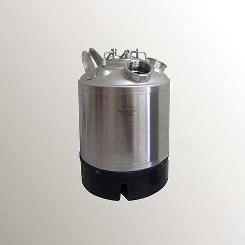 Кег промывочный х4 фитинга 9 литров, нержавеющая сталь
